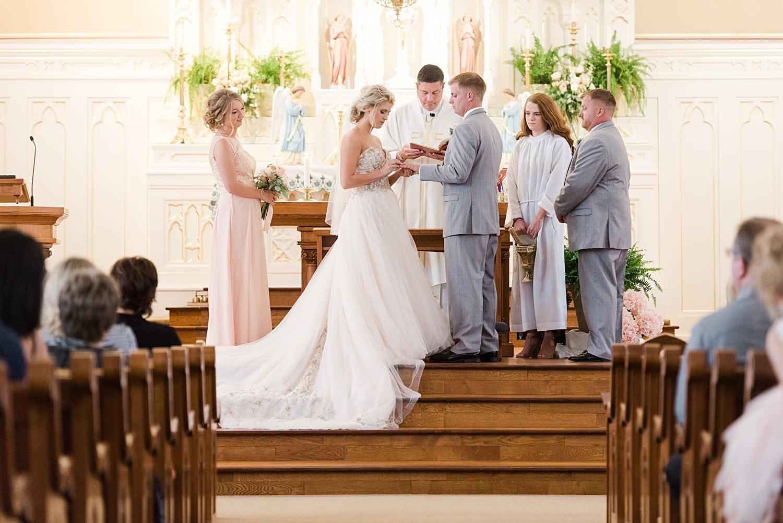 catholic wedding ceremony in cascade iowa