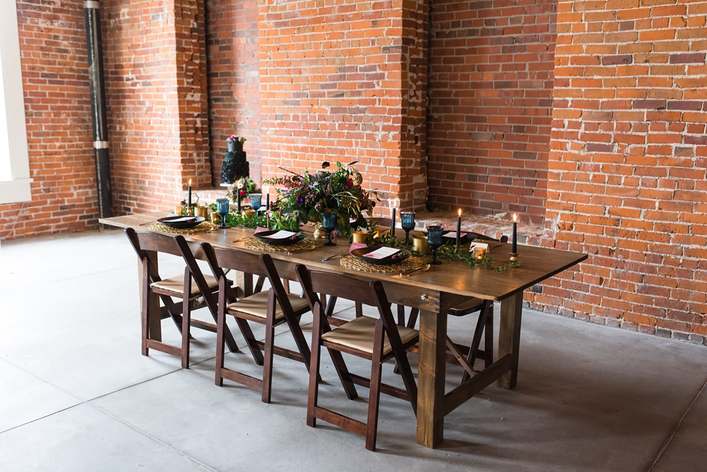 industrial loft with brick walls wedding