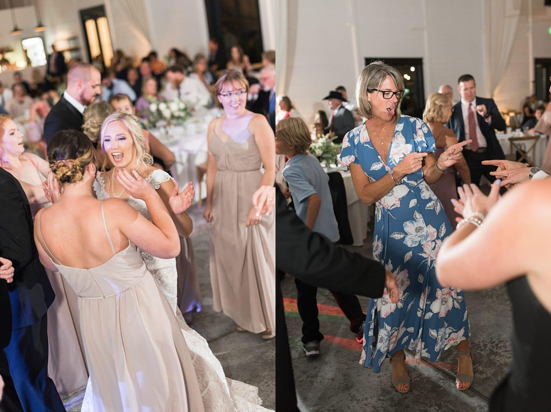 guests dancing at Ashton hill farm wedding reception