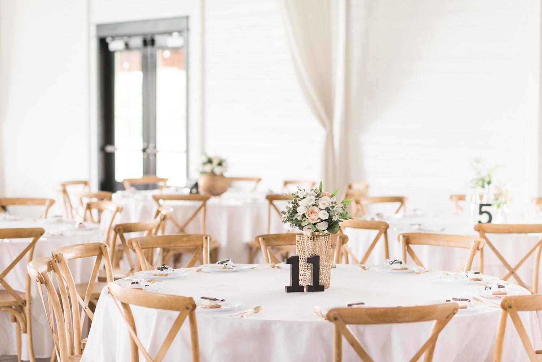 white Ashton hill farm wedding reception
