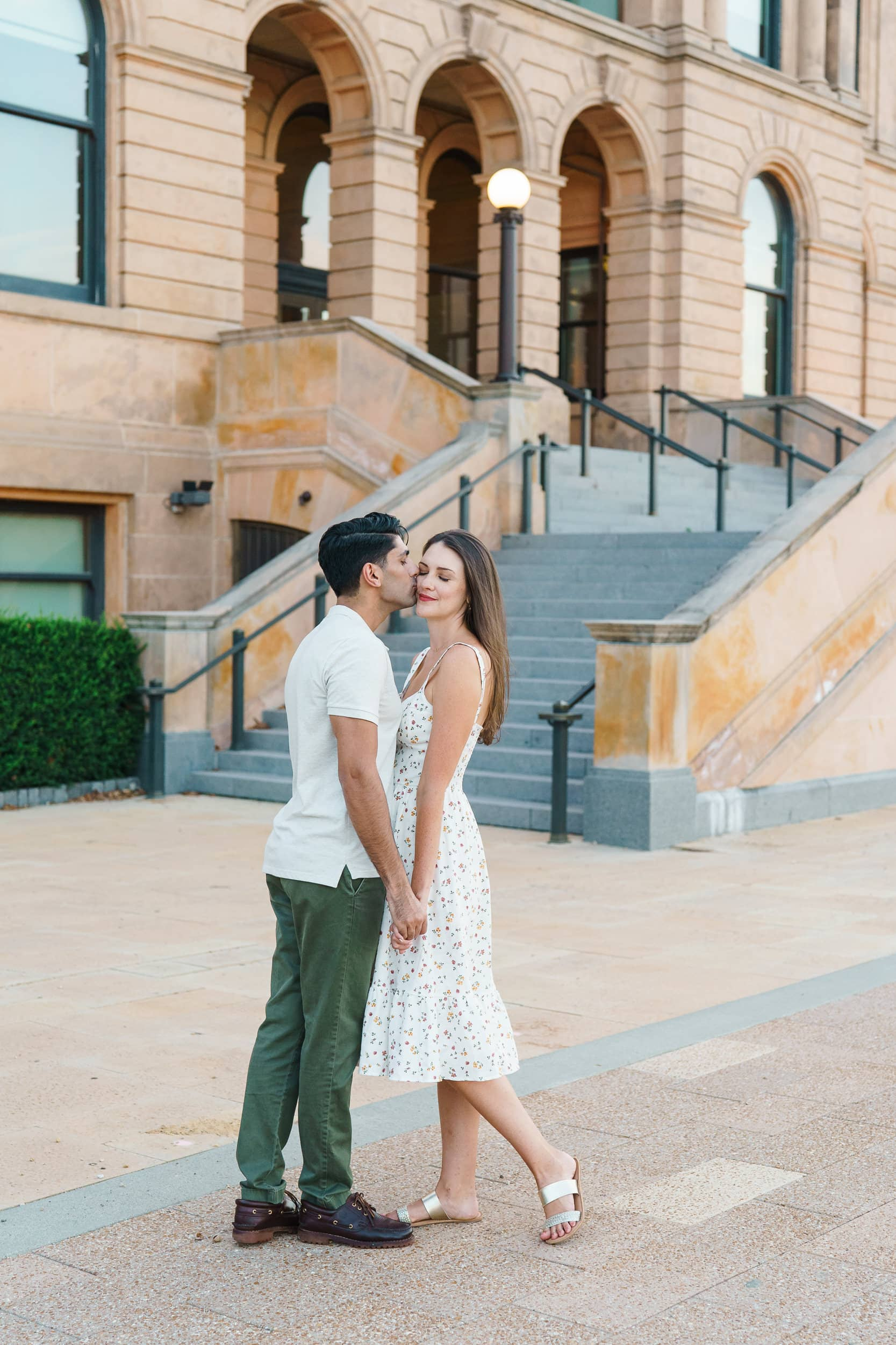 engagement pictures at world food prize building