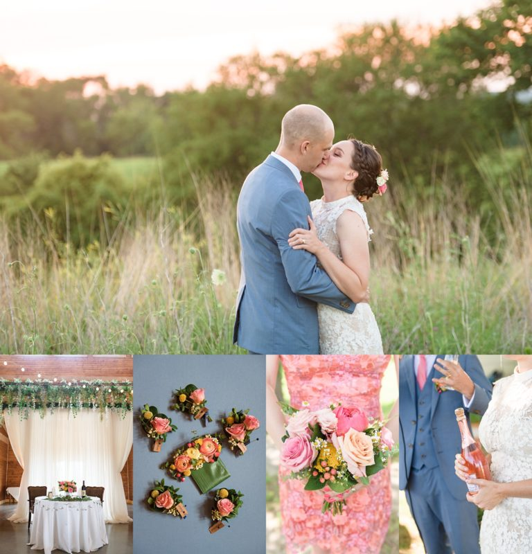 sugar grove vineyard summer wedding