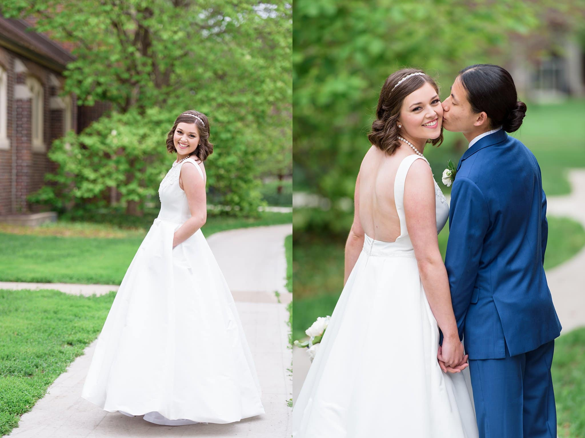 bride and groom after their wedding ceremony