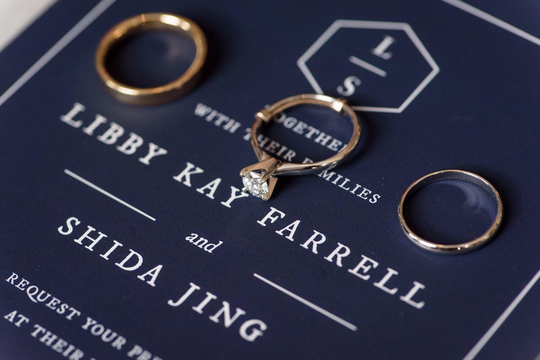 navy classic preppy wedding invitation