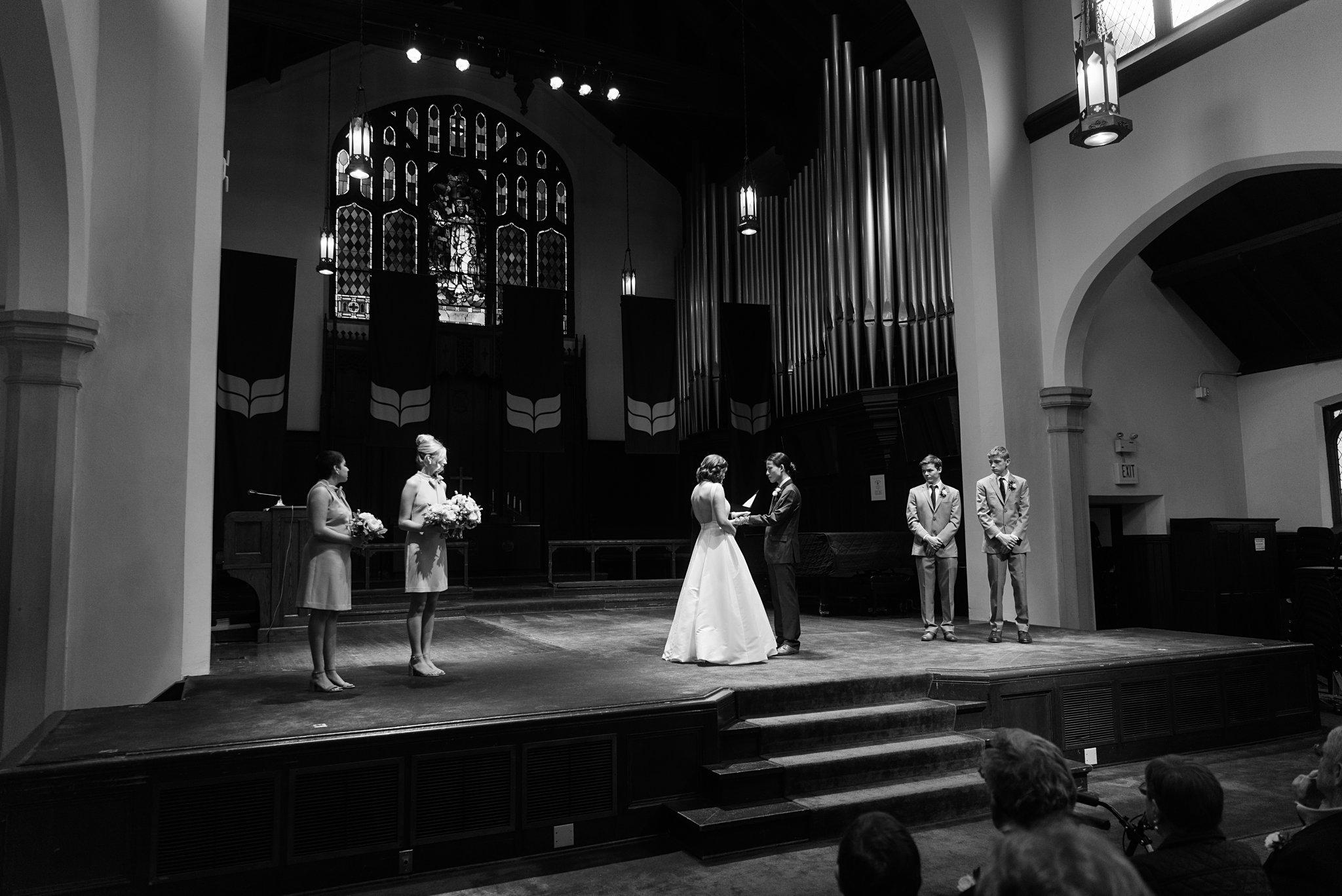 wedding ceremony at herrick chapel