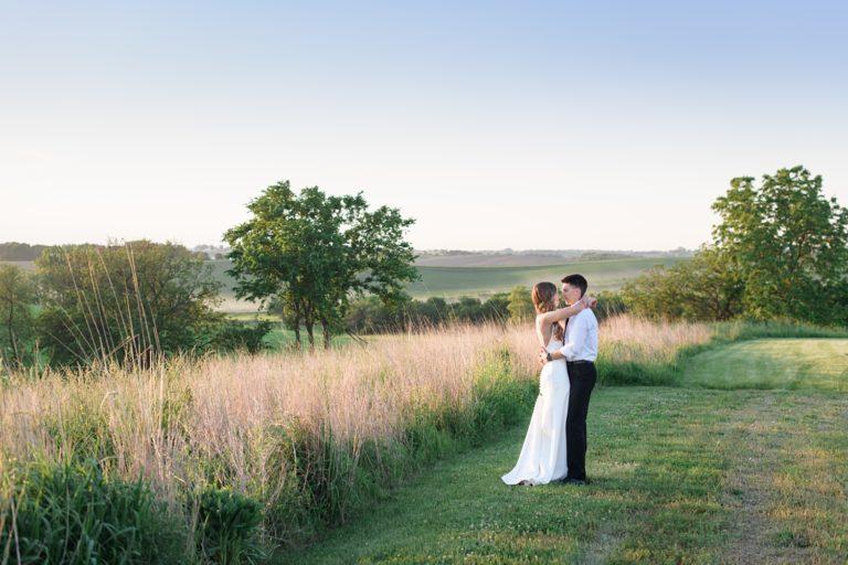 sugar grove sunset wedding photos