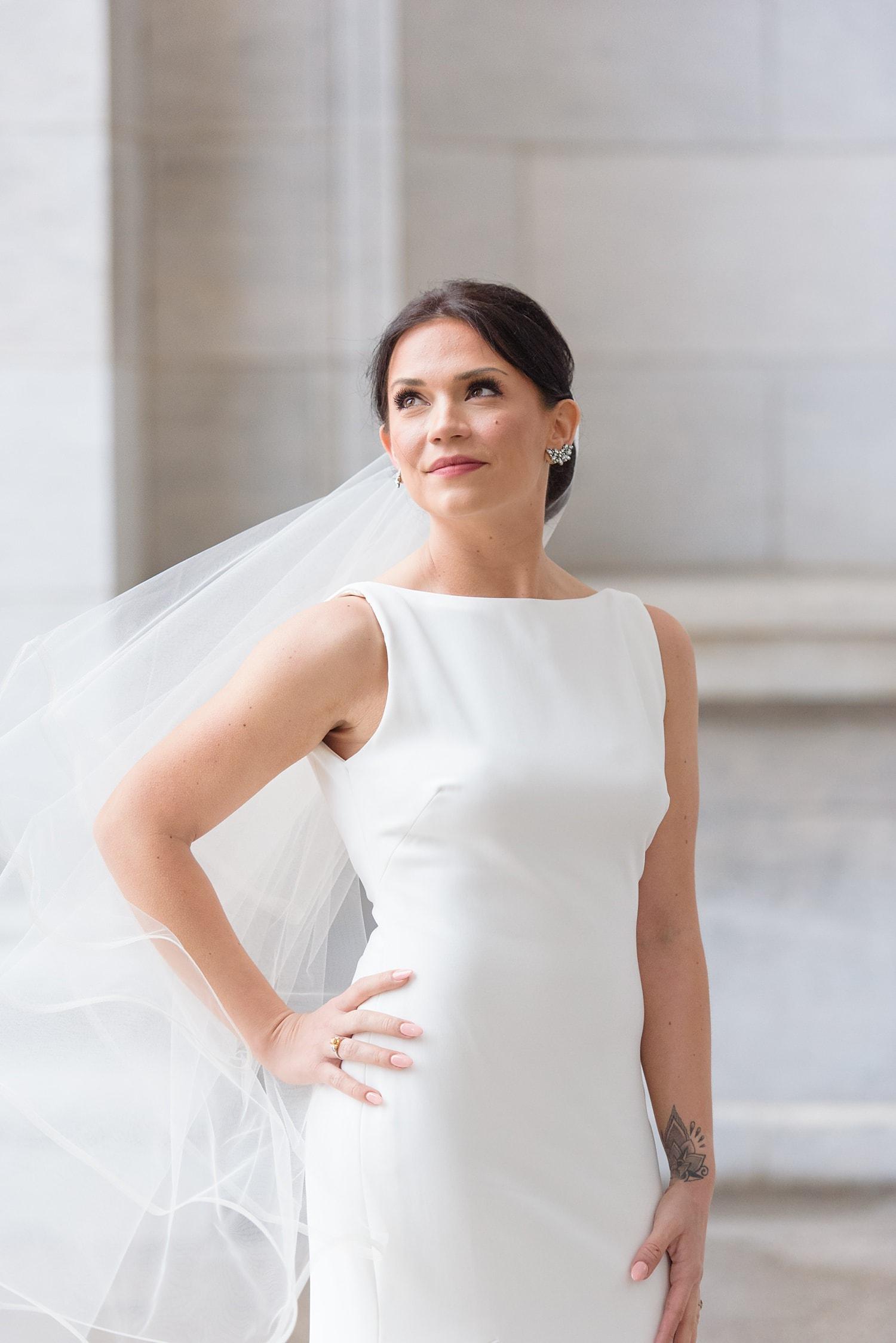 boatneck bridal dress