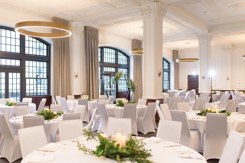 wedding reception at the Des Moines tea room