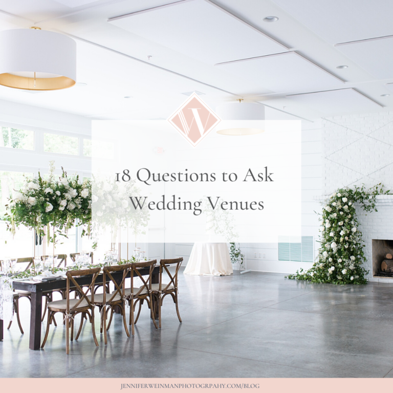 18 questions to ask wedding venues