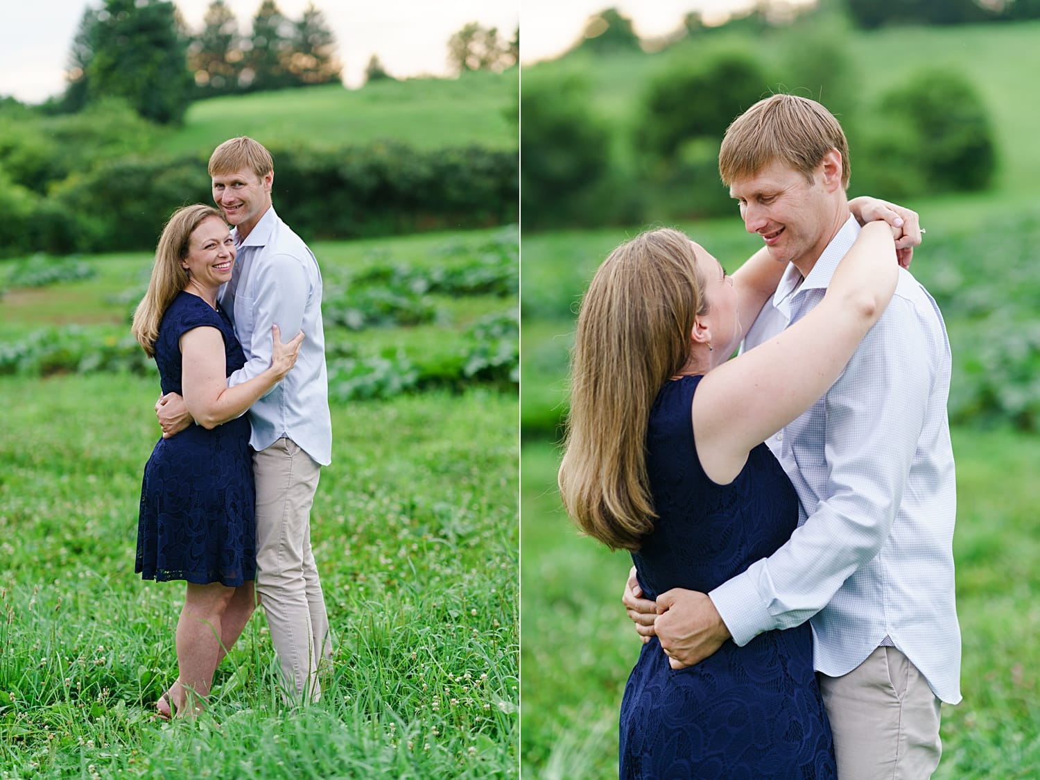 iowa city engagement session at an apple orchard