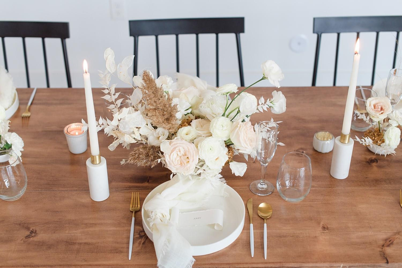 modern white wedding photoshoot