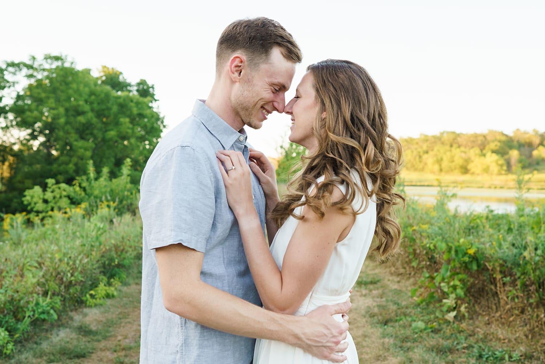 Iowa summer engagement photos