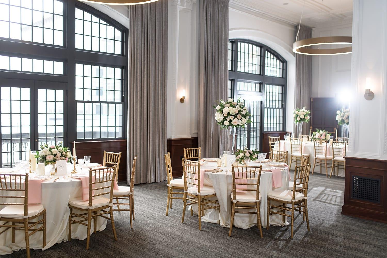black tie Des Moines tea room wedding