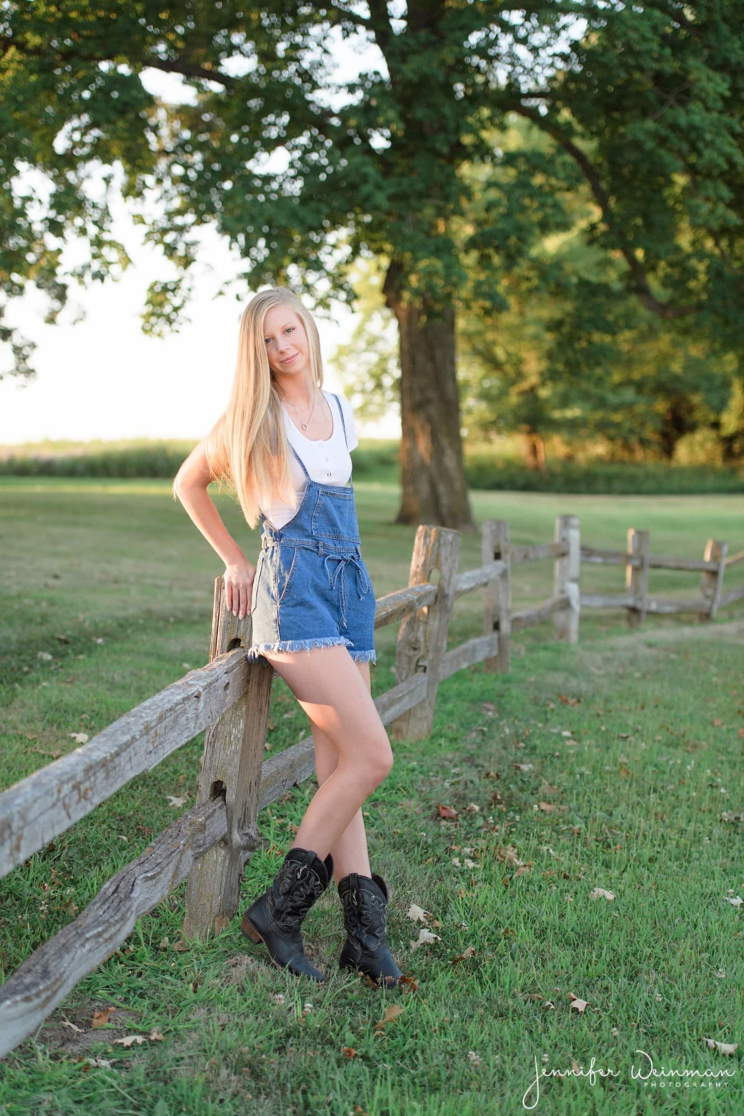 country senior photos