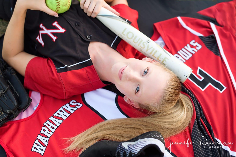 north mahaska senior session softball photos