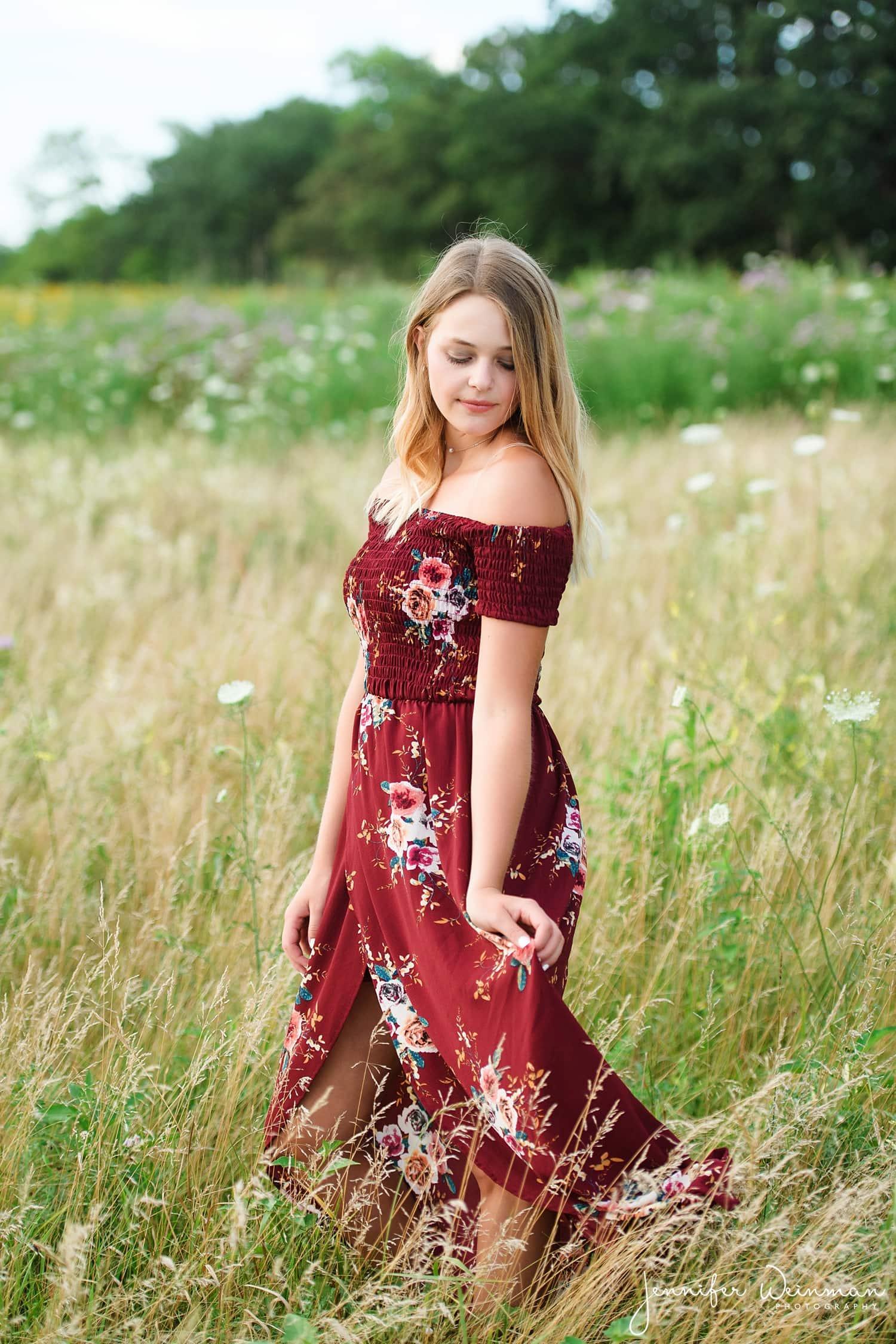 maxi dress senior photos