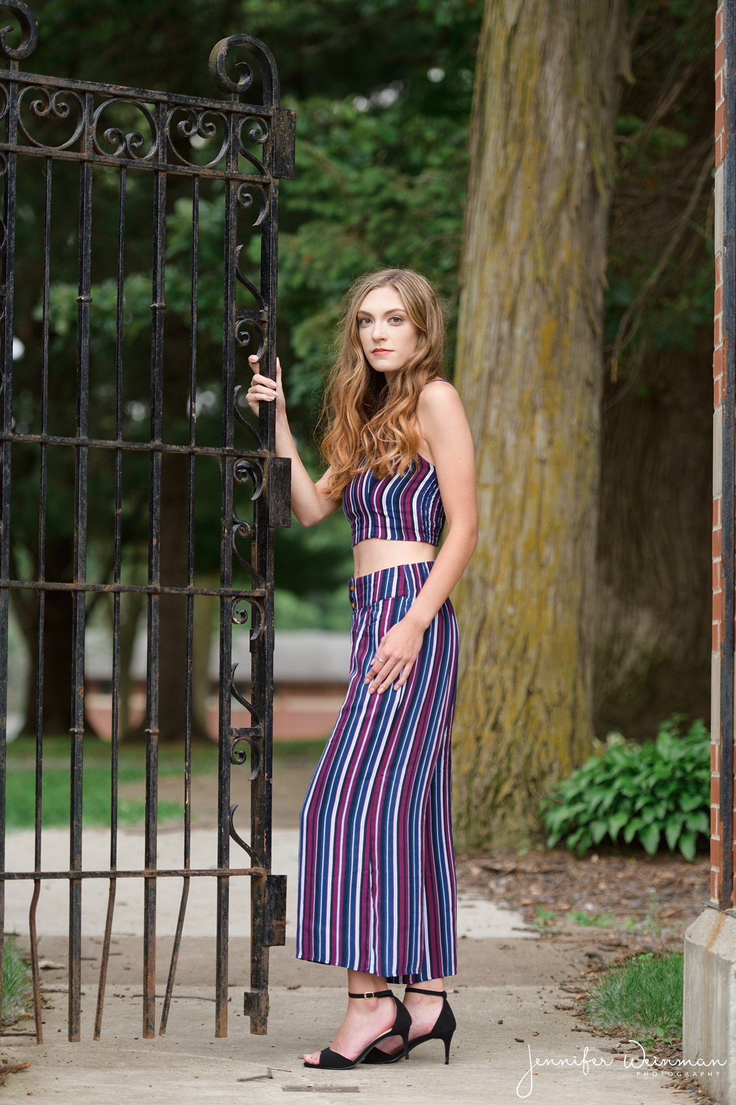 two piece maxi dress senior photos
