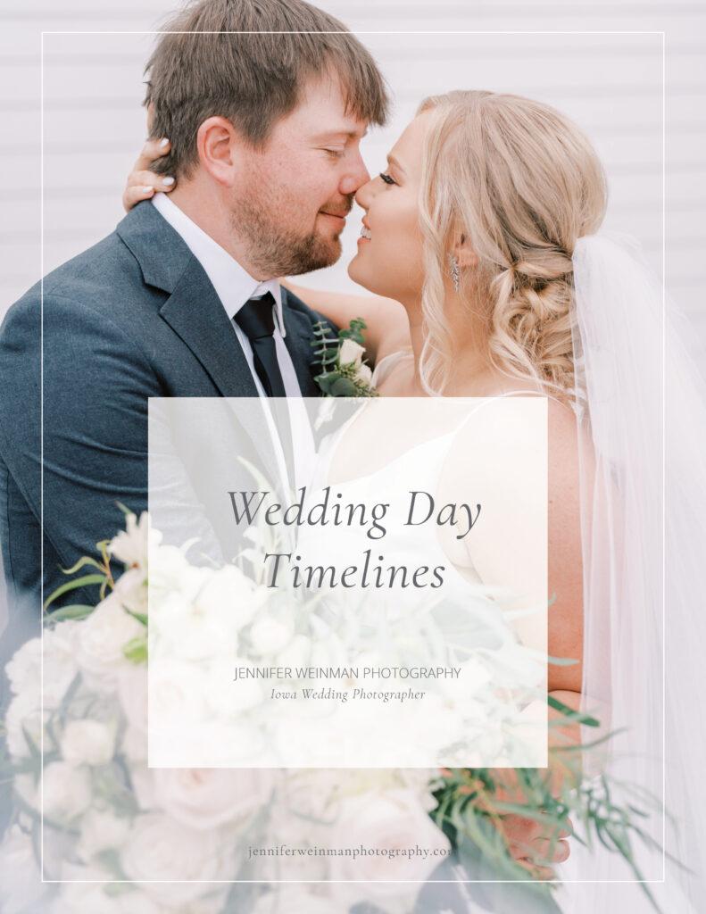 wedding day timeline lead magnet