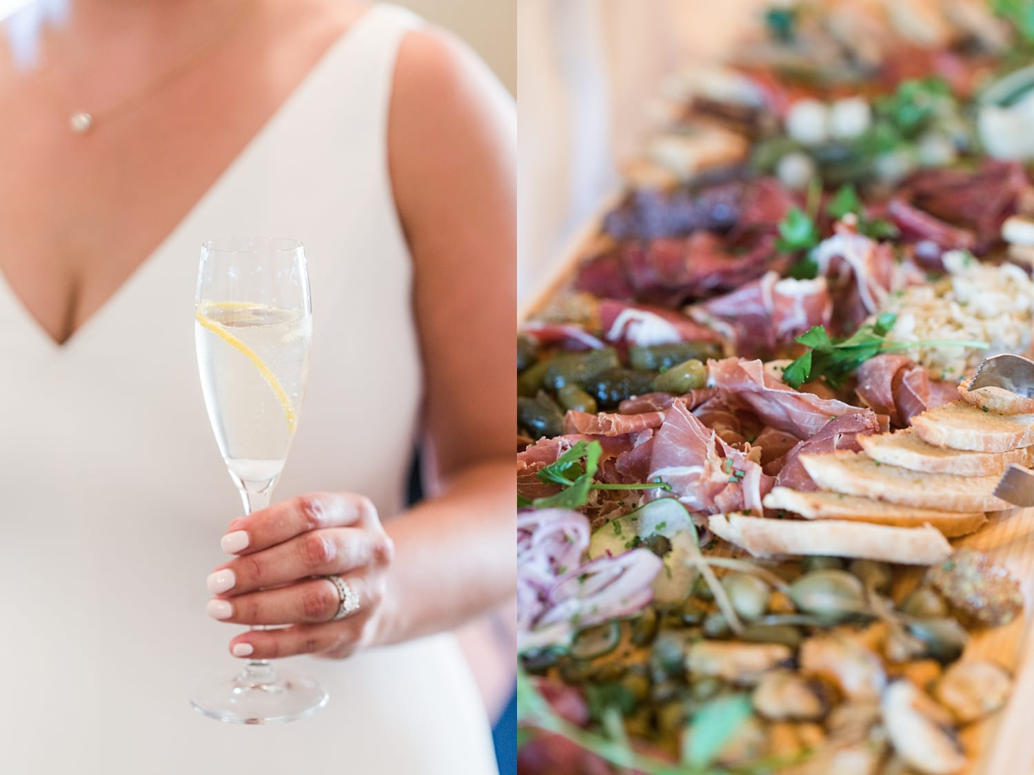 champagne and charcuterie boards