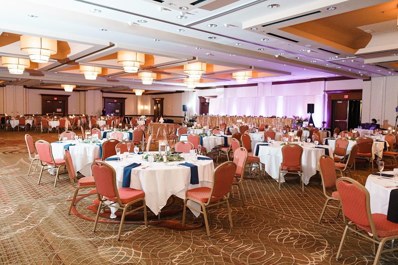 hotel wedding reception decor