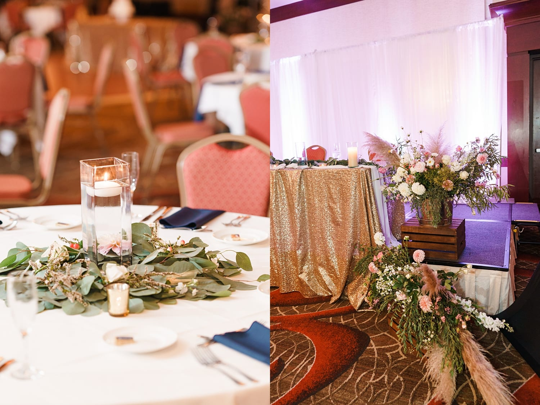 fall florals reception decor