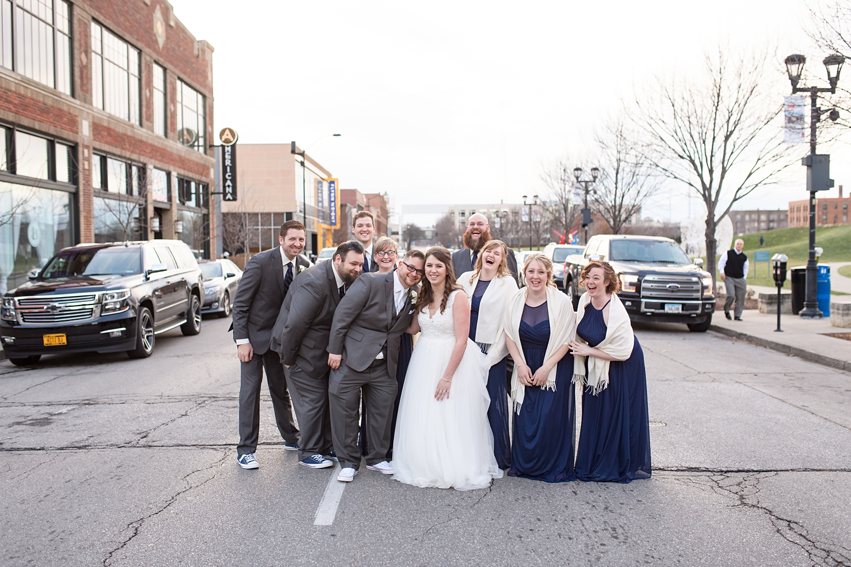 outdoor bridal party photos