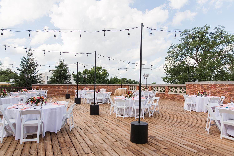 outdoor wedding reception at rollins mansion