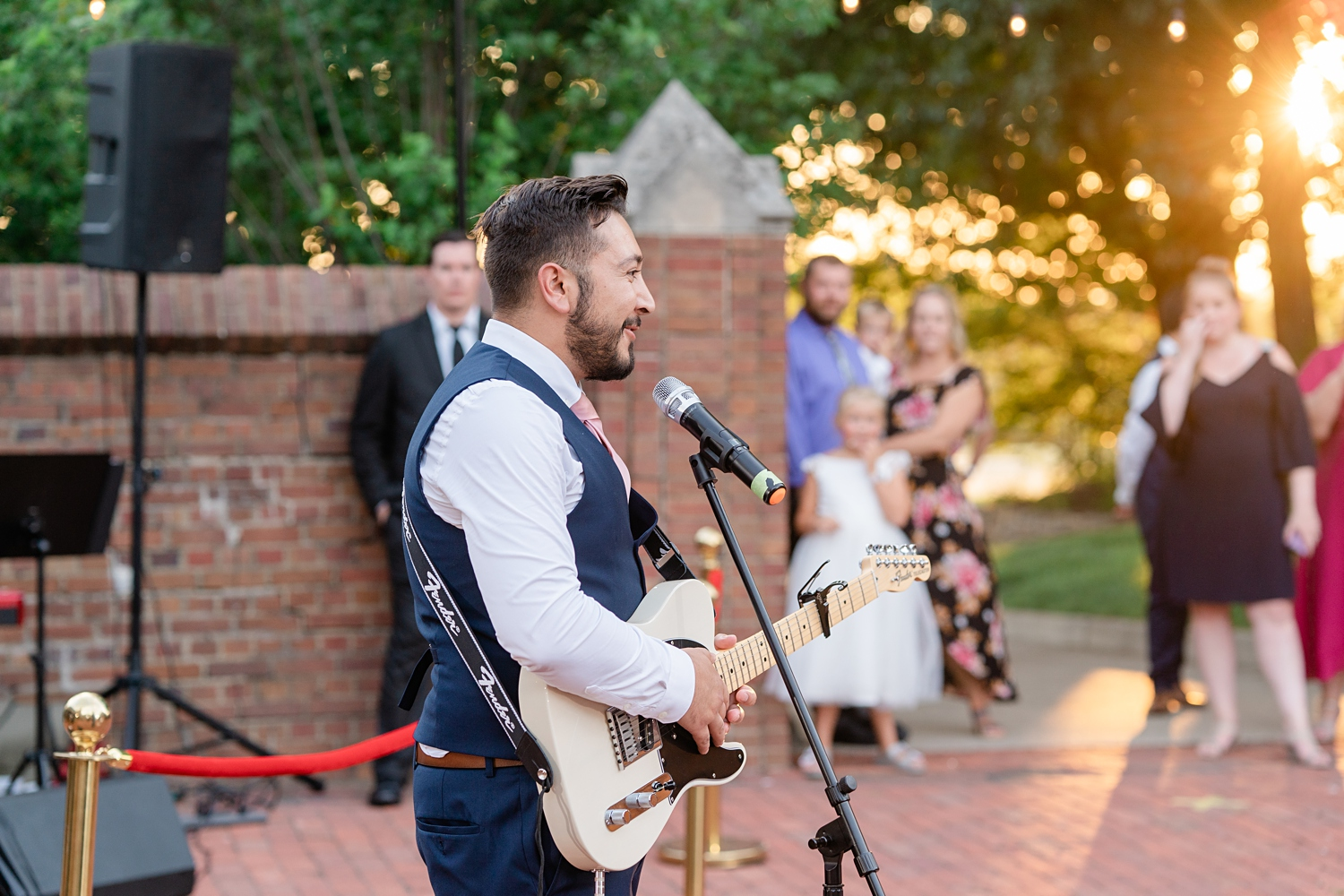 groom performing for the bride