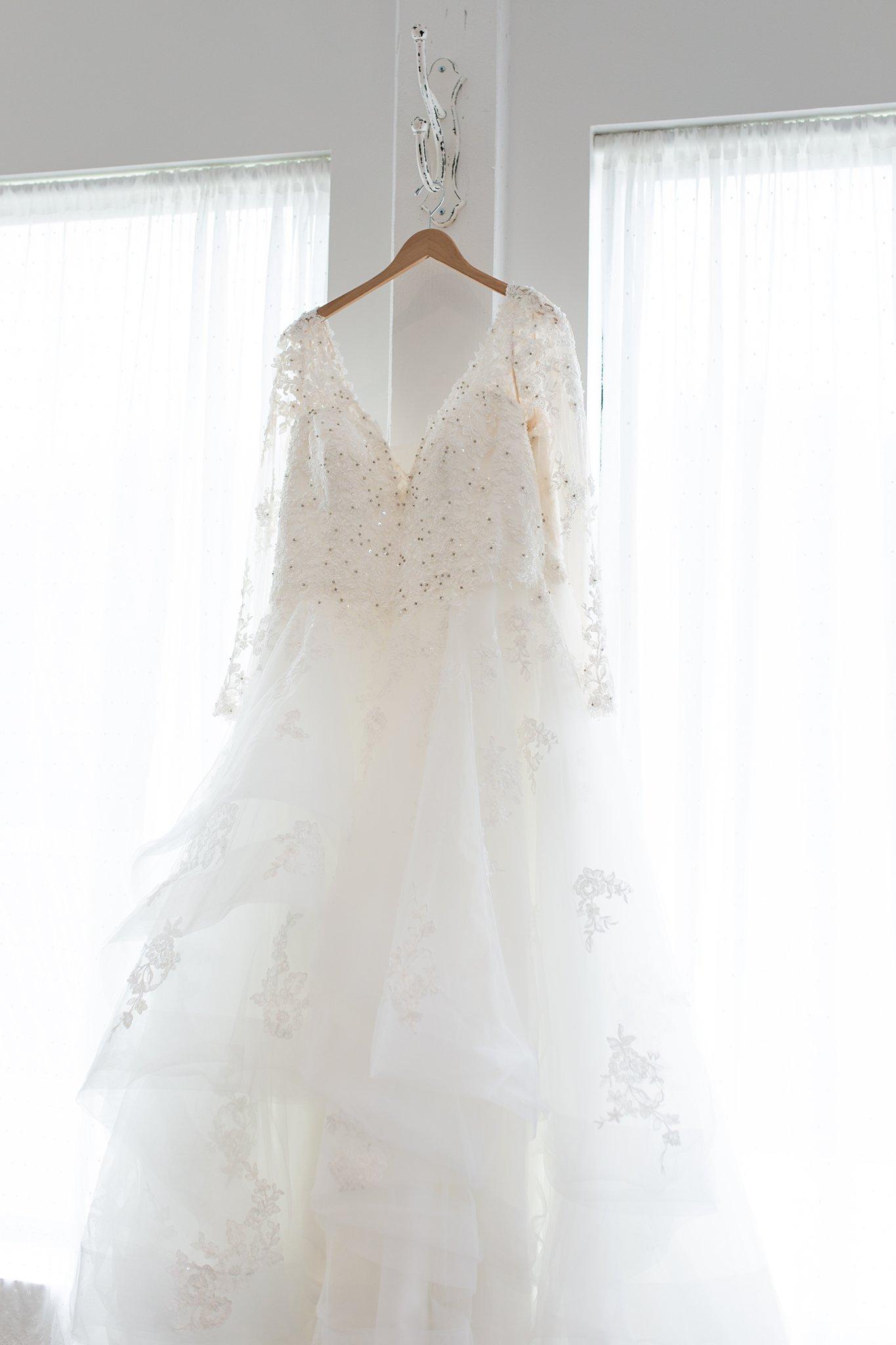 wedding dress portrait