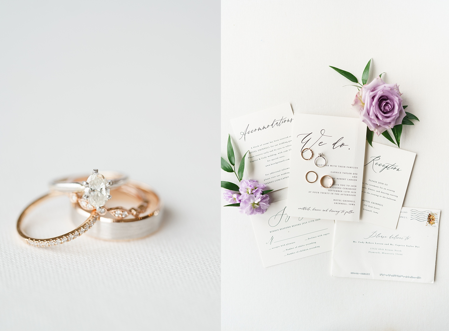 rose gold and silver rings