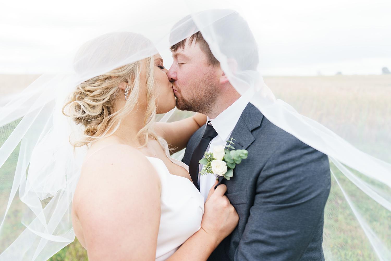 wedding portraits under the veil