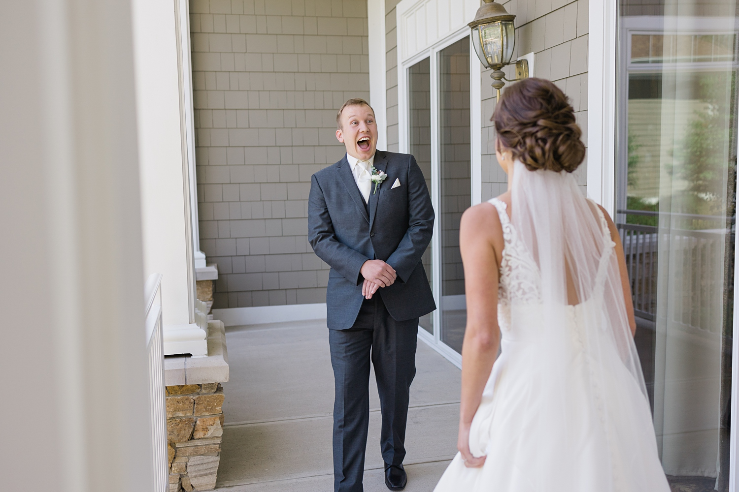 first look with the groom