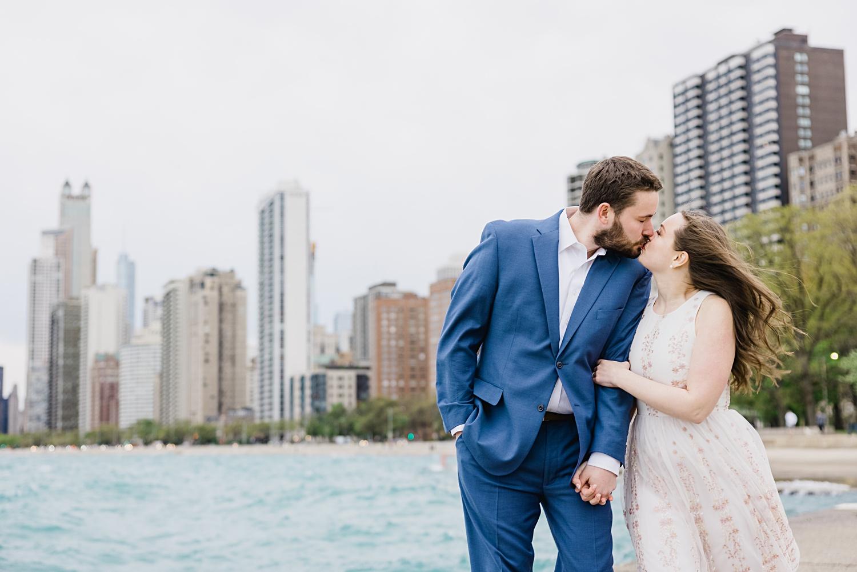 lake michigan chicago engagement photo session