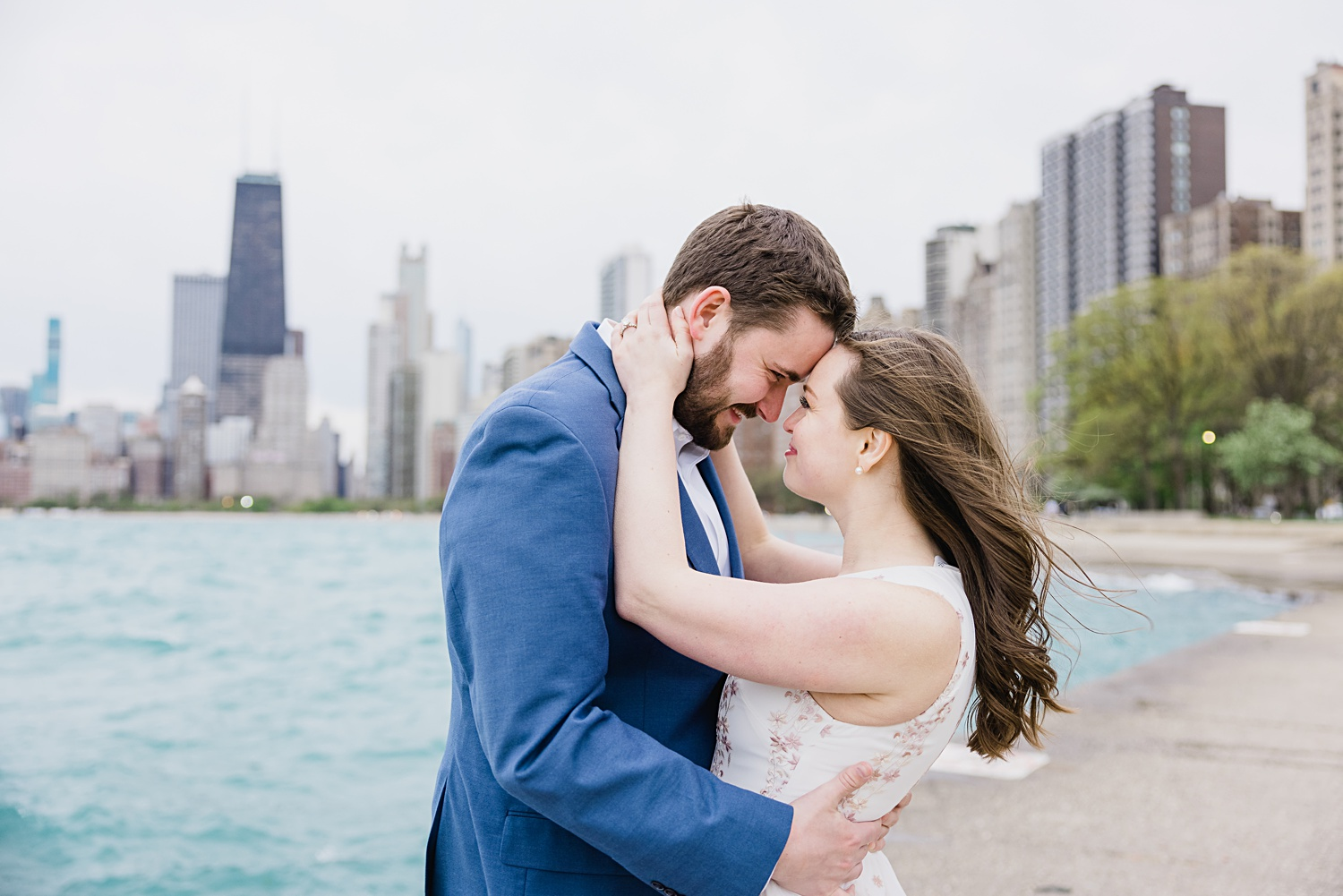 north beach chicago engagement session
