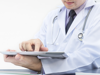 Source: Freepik; Copyright: jcomp; URL: https://www.freepik.com/free-photo/doctor-is-working-with-tablet-white-background_3763235.htm; License: Licensed by JMIR.