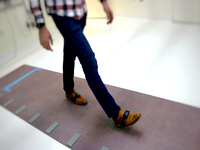 Gait assessment using instrumented walkway and wearable devices. Source: Image created by the authors; Copyright: The Authors; URL: http://rehab.jmir.org/2020/2/e17986/; License: Creative Commons Attribution (CC-BY).