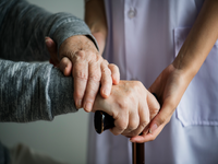 Source: freepik; Copyright: rawpixel; URL: https://www.freepik.com/free-photo/closeup-support-hands_2976003.htm#page=1&query=elderly%20care&position=2; License: Licensed by JMIR.