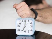 Source: Freepik; Copyright: yanalya; URL: https://www.freepik.com/free-photo/angry-sleepy-young-guy-turning-off-noisy-annoying-alarm-clock_3955573.htm; License: Licensed by JMIR.