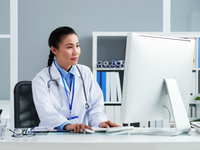 Source: Freepik; Copyright: pressfoto; URL: https://www.freepik.com/free-photo/asian-doctor-with-stethoscope-around-neck-sitting-office-working-computer_5839246.htm#page=3&query=doctor+computer&position=2; License: Licensed by JMIR.