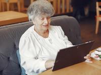 Source: Freepik; Copyright: protoolseh; URL: https://www.freepik.com/free-photo/elegant-old-woman-sitting-cafe-using-laptop_7590238.htm; License: Licensed by JMIR.