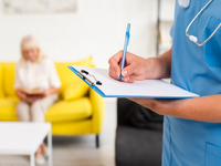 Source: freepik; Copyright: freepik; URL: https://www.freepik.com/free-photo/nurse-writing-blue-clipboard-close-up_5199923.htm#page=3&query=nurse+with+patient&position=21; License: Licensed by JMIR.
