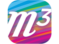 The M3 (M-Cubed) app logo. Source: Image created by Authors; Copyright: The Authors; URL: https://www.researchprotocols.org/2019/11/e16439/; License: Creative Commons Attribution (CC-BY).