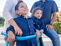 A child with cerebral palsy. Source: iStock by Getty Images; Copyright: sweetmonster; URL: https://www.istockphoto.com/ca/photo/family-in-the-city-park-child-with-cerebral-palsy-gm598136250-102519811; License: Licensed by the authors.