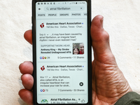 Atrial fibrillation content on the American Heart Association's Facebook page. Source: Image created by the Authors; Copyright: Duane Dale; URL: https://cardio.jmir.org/2019/2/e15320; License: Creative Commons Attribution (CC-BY).
