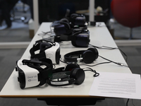 VR equipment. Source: The Authors; Copyright: Kristin Thaulow; URL: https://formative.jmir.org/2019/2/e13633; License: Creative Commons Attribution (CC-BY).