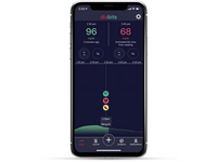 An iPhone image showing the main panel of the Diabits app. Source: Image created by the Authors; Copyright: Bio Conscious Technologies, Inc; URL: http://diabetes.jmir.org/2020/3/e18660/; License: Creative Commons Attribution (CC-BY).