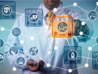 Blockchain in health care. Source: iStock by Getty Images; Copyright: LeoWolfert; URL: https://www.istockphoto.com/photo/pharma-logistician-using-iot-based-on-blockchain-gm997784670-269945378; License: Licensed by the authors.