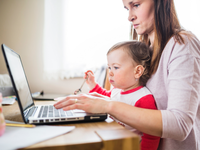Source: freepik; Copyright: freepik; URL: https://www.freepik.com/free-photo/side-view-woman-with-her-kid-using-laptop-wooden-desk_2610751.htm#page=1&query=parent%20child%20computer&position=27; License: Licensed by JMIR.