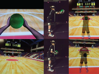 Participant instrumented and engaged in Virtual Dodgeball using a head mounted display (HMD). Differences in the representation of the avatar in the virtual environment (upper panels) and during gameplay (bottom panels) are shown for both the 1st person (left panels) and 3rd person perspectives. Source: Image created by the Authors; Copyright: The Authors; URL: http://games.jmir.org/2020/3/e18888/; License: Creative Commons Attribution (CC-BY).