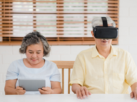 Source: Freepik; Copyright: tirachardz; URL: https://www.freepik.com/free-photo/asian-elderly-couple-using-tablet-virtual-reality-simulator-playing-games-living-room_4396398.htm#page=1&query=vr%20senior&position=30; License: Licensed by JMIR.